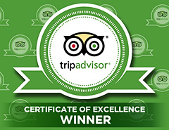 certificate of excellence for traventuria by tripadvisor