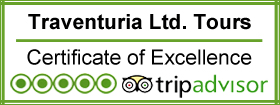 Traventuria on Trip Advisor, certificate of excellence