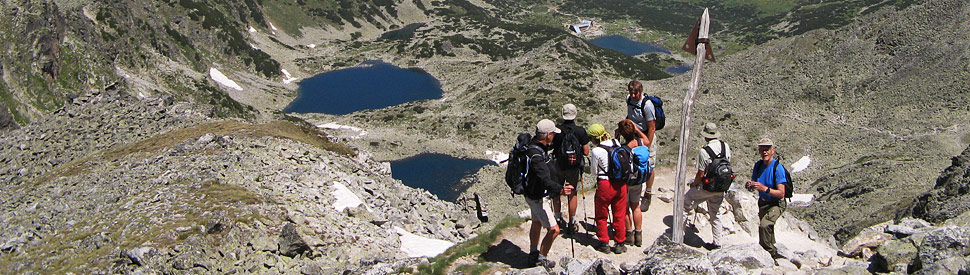 The three highest peaks of Balkan Mountains, Rila and Pirin; guided hiking tours in Bulgaria