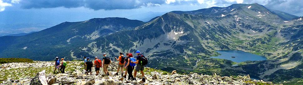 Hiking trek in the Pirin and Rila mountains; guided hiking trek in Bulgaria