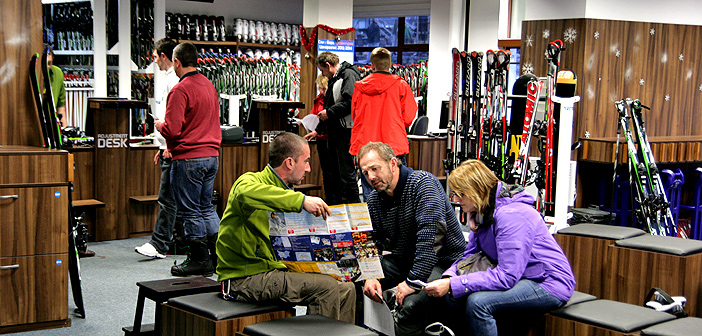 ski & board traventuria rental shop in bansko